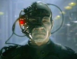 Jean-Luc Picard as the borg in Star Trek