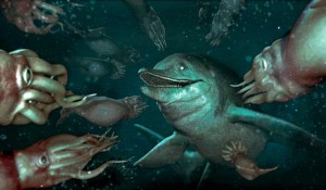 warm-blooded sea reptile ichthyosaur