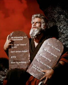 Ten Commandments of science journalism